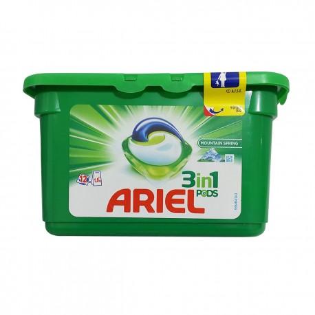 قرص بالشتکی ماشین لباسشویی 3در1 بسته 12 عددی آریل Ariel