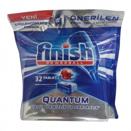 قرص ماشین ظرفشویی 32 عددی کوانتوم فینیش Finish