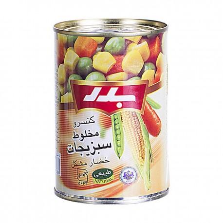 کنسرو مخلوط سبزیجات 430 گرمی بدر