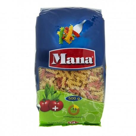 ماکارونی فرمی مته ای سبزیجات 500 گرمی مانا