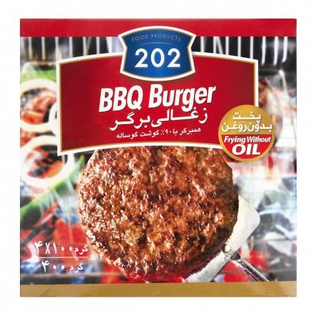 زغالی برگر 90 درصد گوشت گوساله 400 گرمی 202