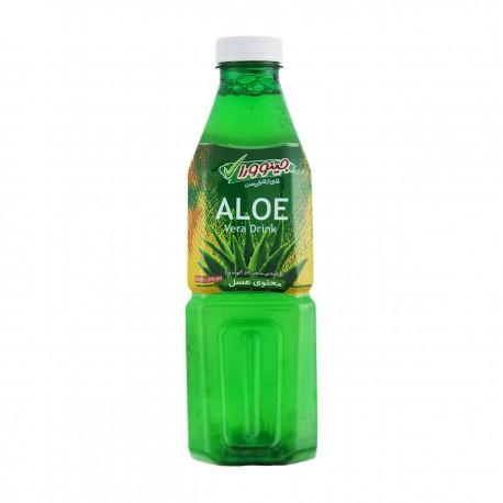نوشیدنی بدون گاز آلوئه ورا محتوی عسل 1 لیتری جینوورا