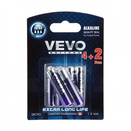 باتری نیم قلم الکالاین 4 عددی + 2 عدد رایگان ویوو