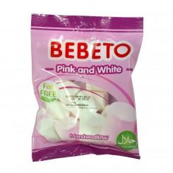 پاستیل مارشمالو سفید صورتی 60 گرمی ببتو BEBETO