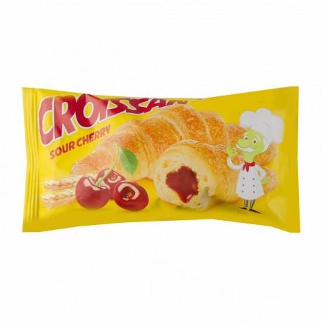 شیرینی کروسان با مغز آلبالو 50 گرمی شیبابا