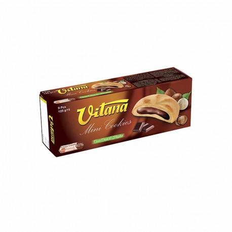 بیسکویت مینی کوکی با مغز شکلات فندق 500 گرمی ویتانا