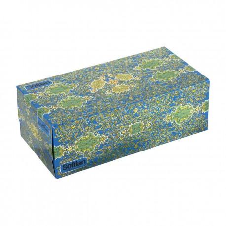 دستمال کاغذی دو لایه 150 برگ سافتلن سری فرش نقش درباری